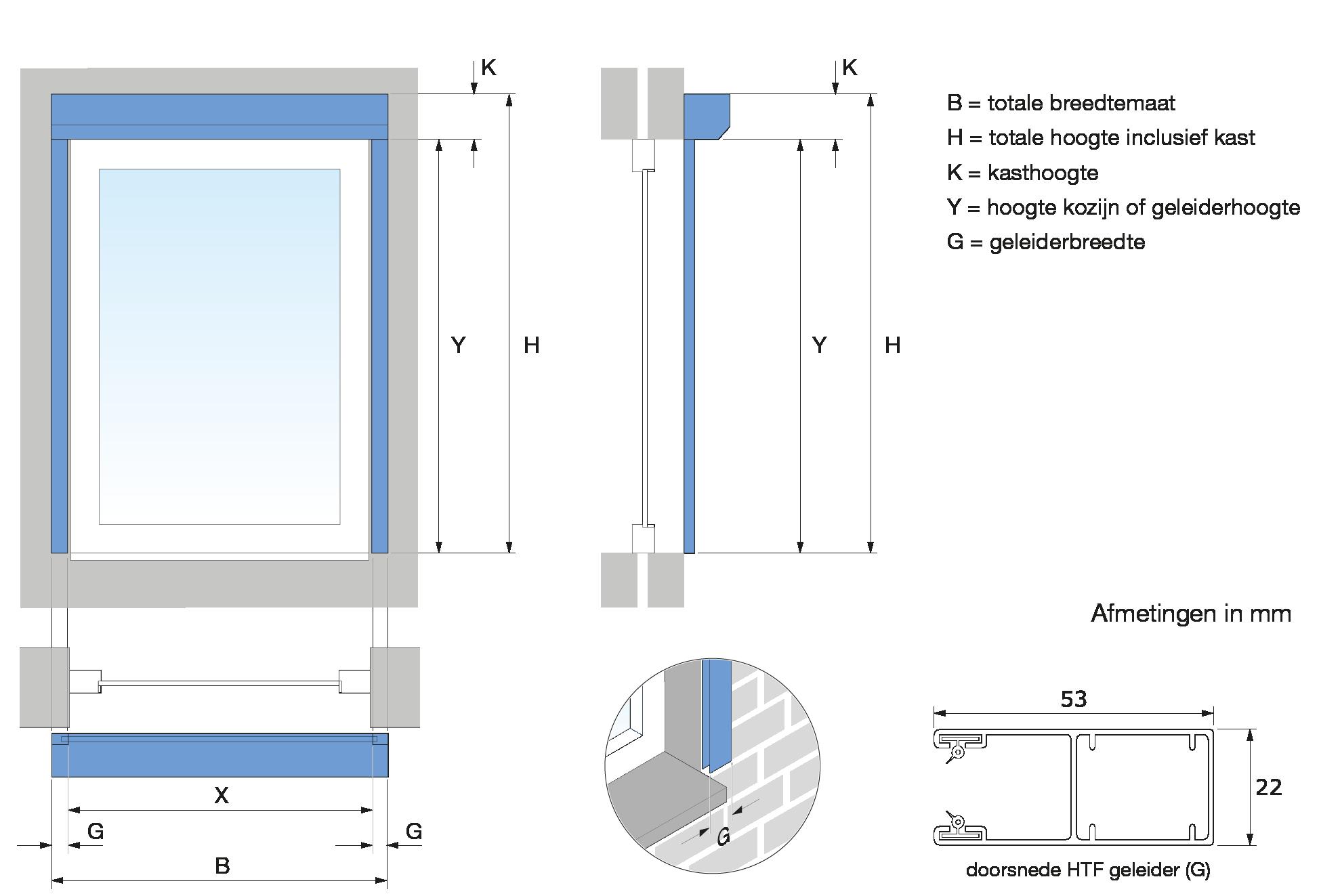 Genoeg Meetinstructie Rolluiken QC38